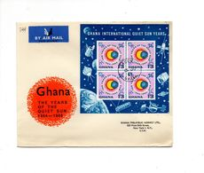 MK799 - GHANA 1965 , Spazio Razzo Raketen . FDC SOLE CALMO - Ghana (1957-...)