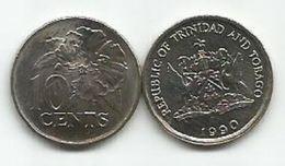 Trinidad And Tobago 10 Cents 1990. - Trinité & Tobago