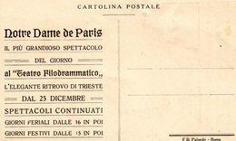 TRIESTE   ,  Teatro Filodrammatico  ,  Notre Dame De Paris  , Cinema  , Film Universal - Trieste