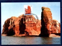 ALLEMAGNE     Carte Maxi  1990 Heligoland  Falaise - Geology