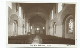Northamptonshire Brixworth Church. The Nave. Rp Nelson Photo Unused - Northamptonshire