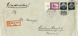 (Lo2437) Einschr. Langbrief DR St. Mülheim N. Berlin - Deutschland