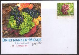 GERMANY, 2017, MINT POSTAL STATIONERY, PREPAID ENVELOPE, FRUIT, GRAPES VINEYARDS - Fruit