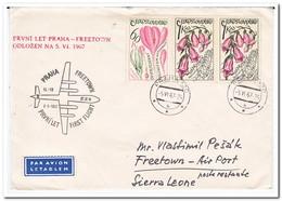 Tsjechoslowakije 1967, First Flight Prague-Freetown - Czechoslovakia