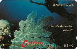 Barbados - Underwater (Without Logo), 5CBDC - 16.000ex, 1991, Used - Barbados