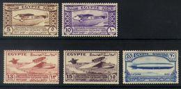 E18 - Egypt - 1933 - International Aviation Congress - Armstrong-Whitworth / Dornier / Zeppelin - MH - Airplanes