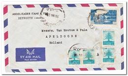 Libanon,  Flight Letter To Apeldoorn, Holland - Libanon