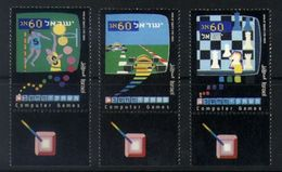 E18 - Israel - 1990 - SG 1123/25 - Computer Games - Basketball / Chess / Racing - MNH - Spiele