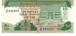 Mauritius P.35  10 Rupees 1985 Unc - Mauritius