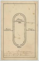 Plan De Table 52 Convives Dîner Du 14 Mars 1882 . Garde Des Sceaux Gustave Humbert . Thérèse était-elle Là ? - Menus
