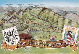 (733) AK Das Kleine Walsertal Landkarte - Kleinwalsertal