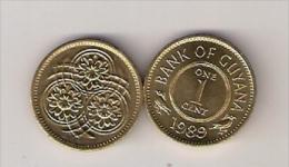 Guyana 1 Cent 1989. High Grade - Guyana