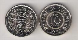 Guyana 10 Cents 1992. High Grade - Guyana