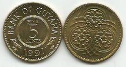 Guyana 5 Cents 1991. High Grade - Guyana
