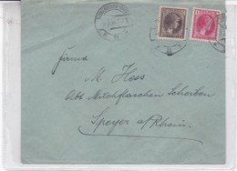 SOBRE ENVELOPE CIRCULEE LUXEMBOURG TO GERMANY YEAR 1935 2 COLOURS STAMPS- BLEUP - Luxembourg