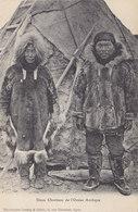 Cpa 2 Scans - Alaska Inuit Deux Chrétiens De L'ocean Arctique - Otros