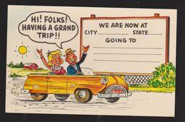 Comic Postcard - Woman & Man In Car Fill In The Blank Type - Unused - Comics