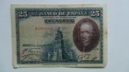 Billete 25 Pesetas. 1928. España. Calderón De La Barca - [ 1] …-1931 : Eerste Biljeten (Banco De España)