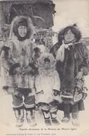 Cpa 2 Scans Alaska - Famille Chrétienne De La Mission De Mary's Igloo - Otros