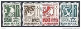 Danemark 1972 Série Neuve**  N° 541/544 Génie - Denmark