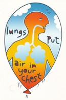 Postcard Of Poster Lungs Put Air In Your Chest Promoting Healthy Lungs Medicine Medical Interest My Ref  B22890 - Health