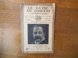 """LE GUIDE DU CONCERT DES 2 ET 9 OCTOBRE 1931 PIERRE MONTEUX,LA PREMIERE DE LA """"JUIVE"""" ,ECHOS,CONCERTS,PUBLICITES - Musique & Instruments"""
