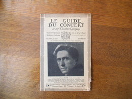 LE GUIDE DU CONCERT 23-30 MAI 1930 HENRI MORIN,RIMSKY-KHORSAKOFF ,ECHOS,CONCERTS,PUBLICITES - Musique & Instruments