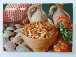 RECETTE CUISINE - Vermicelle Aux Mollusques - Tomate - Carte Postale Souvenir D´Italie - Recettes (cuisine)