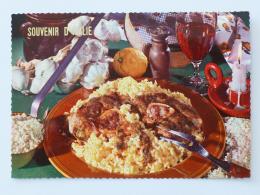 RECETTE CUISINE - Risotto Avec Ossi Buchi / Recette De Lombardie , Italie / Verre De Vin - Carte Postale - Recettes (cuisine)
