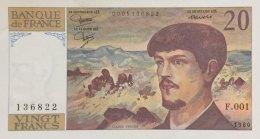 France 20 Francs, P-151a (1980) - First Date - UNC - 1962-1997 ''Francs''