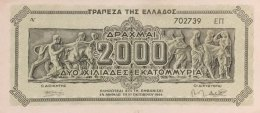 Greece 2.000.000.000 Drachmai, P-133b (11.10.1944) - VF - Griechenland