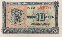Greece 10 Drachmai, P-314 (6.4.1940) - UNC - Griechenland