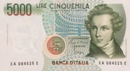 Italy 5.000 Lire, P-111a (4.1.1985) - UNC - [ 2] 1946-… Republik