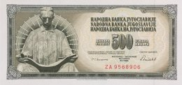 Yugoslavia 500 Dinara, P-91cR (16.5.1986) - Replacement Banknote - UNC - Jugoslawien