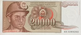 Yugoslavia 20.000 Dinara, P-95 (1.5.1987) - EF/XF+ - Jugoslawien