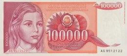 Yugoslavia 100.000 Dinara, P-97 (1.5.1989) - UNC - Jugoslawien