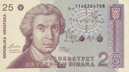 Croatia 25 Dinara, P-19a (8.10.1991) - UNC - Kroatien