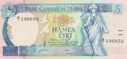 Malta 5 Liri, P-42 (1989) - UNC - Malte