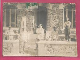 Morceau De Carte Photo De 1909 Maçons Creusois Ecrivant A Sa Famille En Creuse - Cachet De Marsac - France