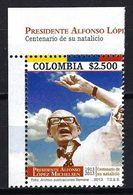 COLOMBIA CO020.13.06.11 [2776-1] Presidente Alfonso López Michelsen Centenario De Su Natalicio 1913-2013 - New - Colombia