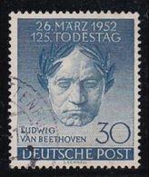 1952 GERMANIA Germany BERLINO Berlin LUDWIG VAN BEETHOVEN Serie (73) Usata Used - Musica