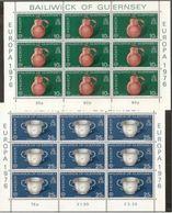 1976 Guernsey EUROPA CEPT EUROPE 9 Serie Di 2v. In Minifoglio MNH** Minisheet - 1976
