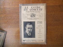 LE GUIDE DU CONCERT DU 29 JNVIER 1932 FRANCOIS LANG,BOHUSLAV MARTINU,HENRI TOMASI ,ECHOS,CONCERTS,PUBLICITES - Musique & Instruments