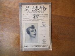 LE GUIDE DU CONCERT DU 22 JANVIER 1932 ADAM DE AROSTEGUI,MAURICE DELAGE  ,ECHOS,CONCERTS,PUBLICITES - Musique & Instruments