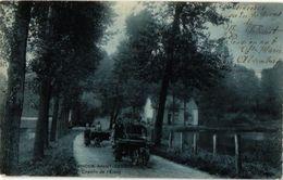 Rode St GENESE CPA  C1908  198  Attelage De Chiens -hondenkar ( Hund, Hond, Dog Cart ) étang Transport Lourd Fagot - Rhode-St-Genèse - St-Genesius-Rode