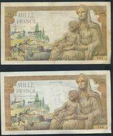 °°° FRANCE 1000 FRANCS 3/9/1942  22/10/42 °°° - 1871-1952 Anciens Francs Circulés Au XXème
