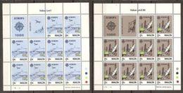 1988 Malta EUROPA CEPT EUROPE 10 Serie Di 2v. MNH** In Minifoglio Minisheet - Europa-CEPT