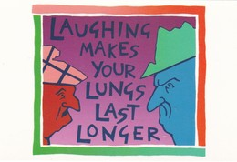 Postcard Of Poster Laughing Makes Lungs Last Longer Promoting Healthy Lungs Medicine Medical Interest My Ref  B22898 - Health