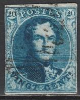 Belgie    .   OBP  .   7     .      O    .      Gebruikt  .   /    .    Oblitéré - 1851-1857 Médaillons (6/8)