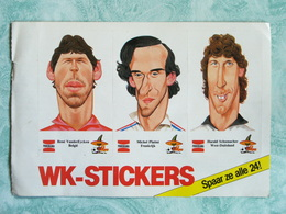 Sticker - WK Voetbal 1986 Mexico - België - Frankrijk - West Duitsland - Autocollants